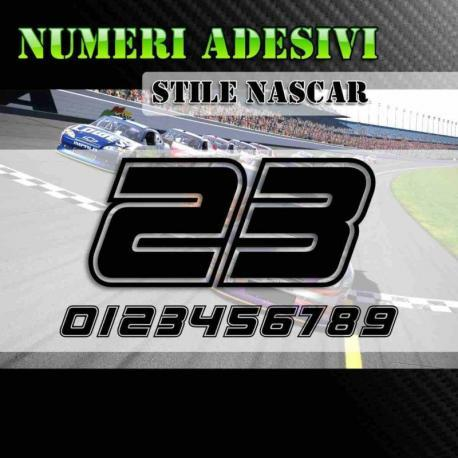 Numeri adesivi Nascar