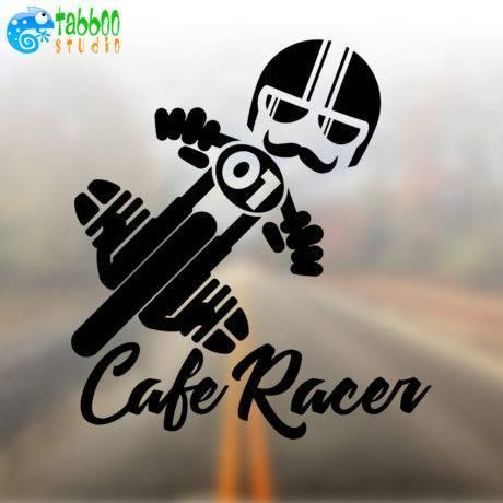 Cafe Racer sticker biker Bicilindrico Boxer