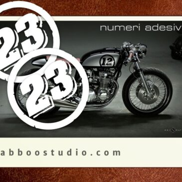 Numeri adesivi per Cafe Racer Bobber Tracker Scrambler