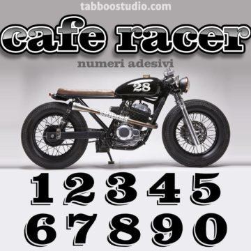 Numeri adesivi Cafe Racer