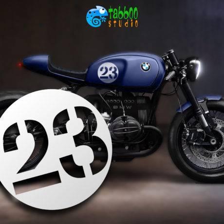 Numeri adesivi per Cafe Racer Bobber Scrambler