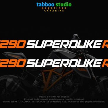 KTM 1290 SuperDuke R stickers