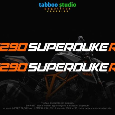 KTM 1290 SuperDuke R stickers