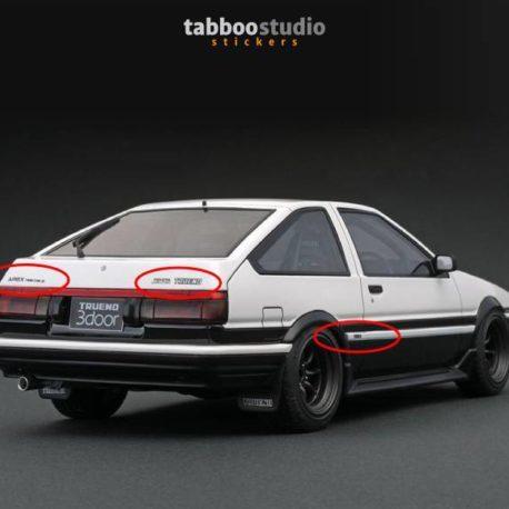 Stickers AE86 Toyota Trueno Sprinter Apex Hachi-Roku