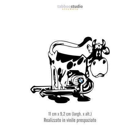 BMW cow sticker