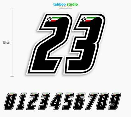 Race stickers numbers for motorcycles