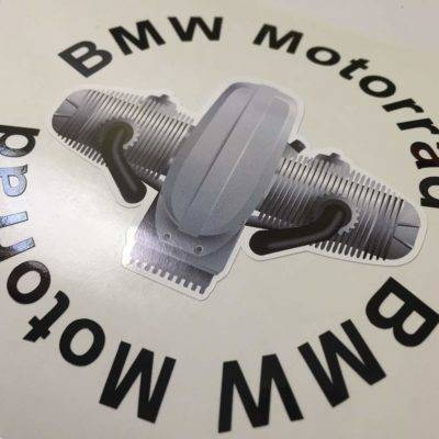 2 BMW helmet stickers 3D engine
