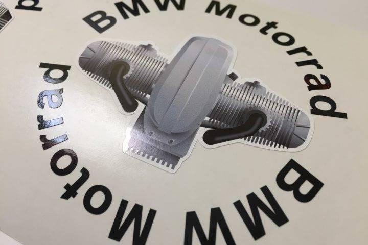 2 BMW helmet stickers 3D engine