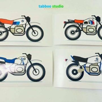 2 BMW stickers R80 GS G/S Paris Dakar Basic