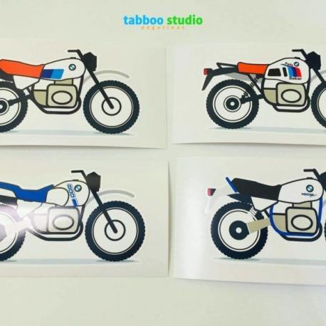 2 BMW stickers R80 GS G/S Paris Dakar Basic
