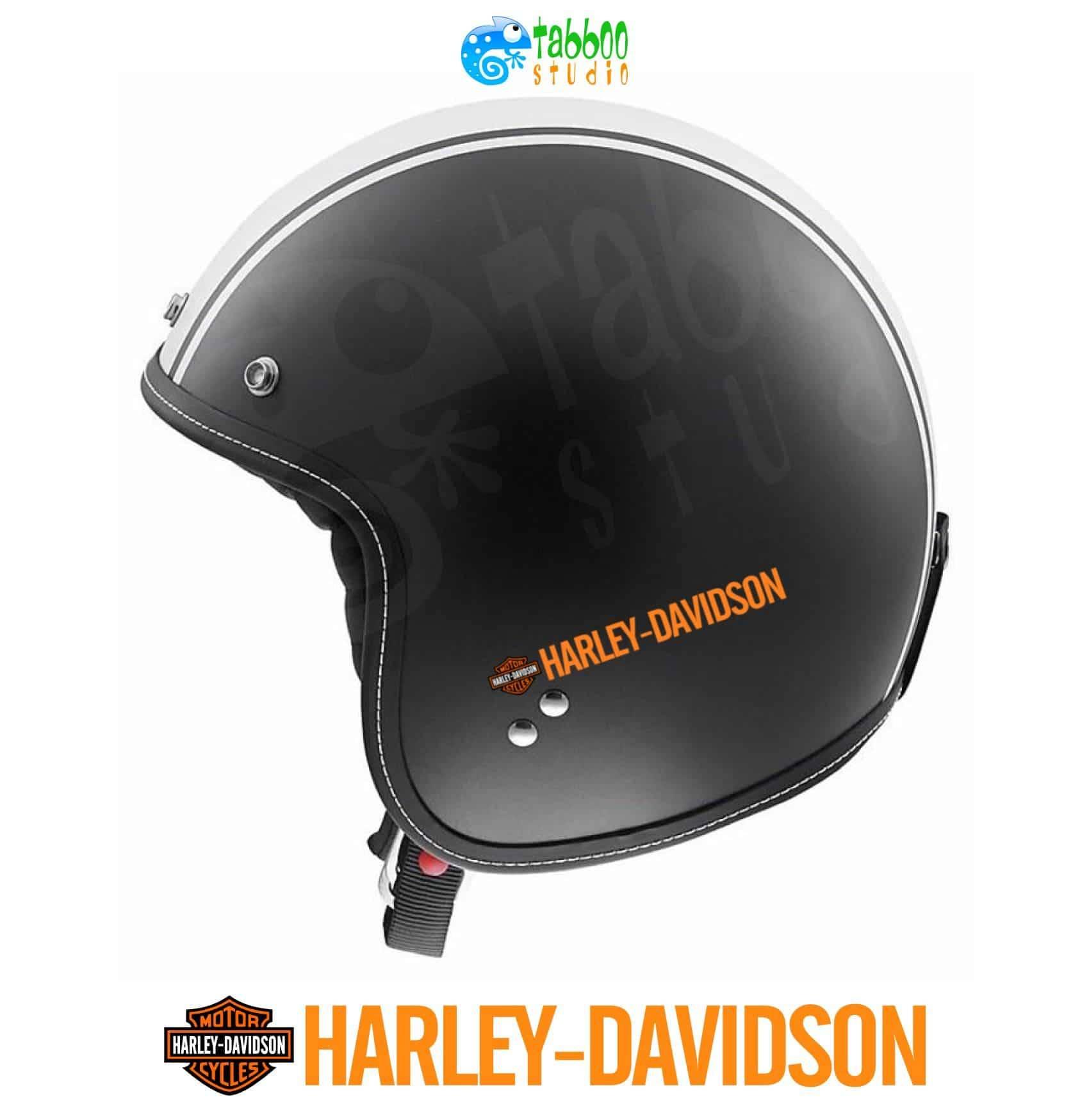 4 harley davidson helmet stickers
