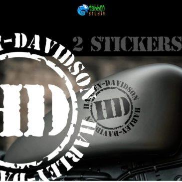 HARLEY-DAVIDSON motorcycle tank stickers