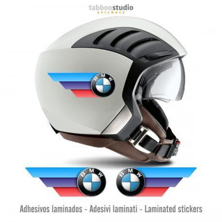 Stickers BMW tricolore per casco