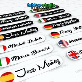 4 personalized stickers for helmet