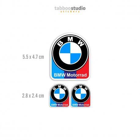 3 BMW Motorrad stickers Classic