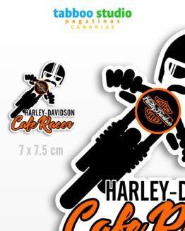 Biker Stickers Harley Davidson Cafe Racer