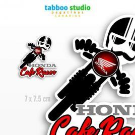 Cafe Racer Honda Biker Stickers