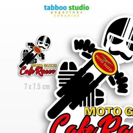 Cafe Racer Moto Guzzi Biker Stickers