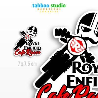Cafe Racer Royal Enfield Biker Stickers