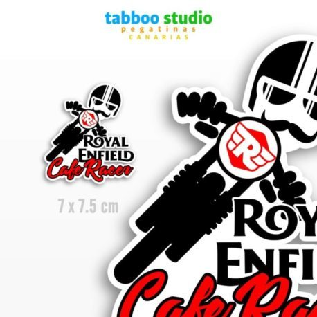 Cafe Racer Royal Enfield Biker Stickers