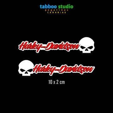 HARLEY-DAVIDSON helmet stickers_rosso_1