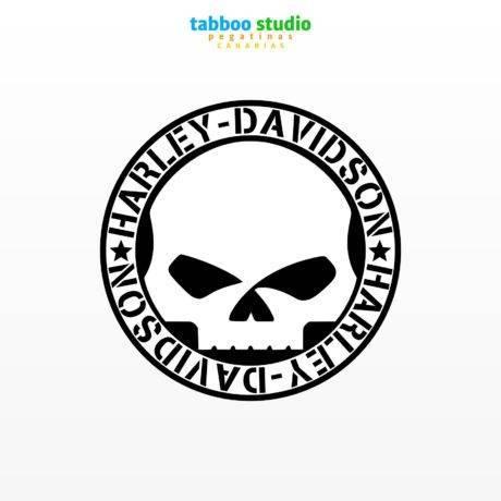 Harley Davidson skull stickers
