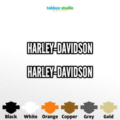Harley Davidson text stickers