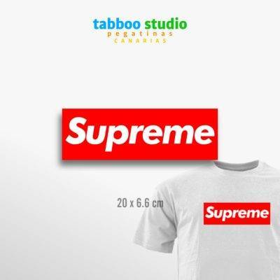 Supreme iron-on skate sticker