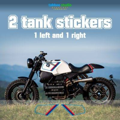BMW K100 tank stickers cafe racer bike