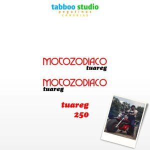 Motozodiaco Tuareg 223 tank stickers