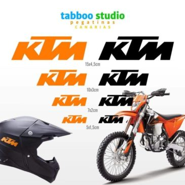 8 KTM stickers
