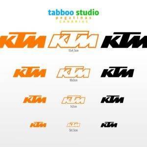 12 KTM Stickers