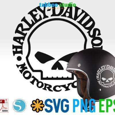 Harley Davidson skull logo ready to cut