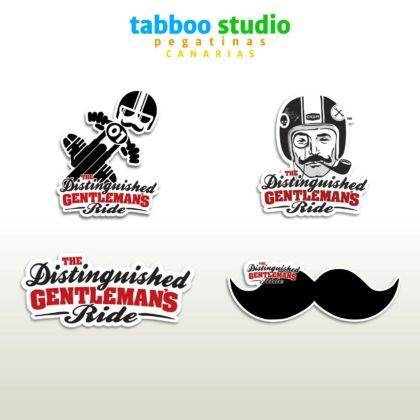 The Distinguished Gentlemans Ride stickers
