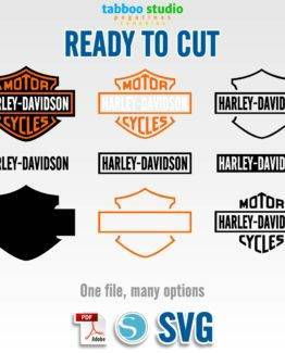 Harley Davidson logo ready to cut