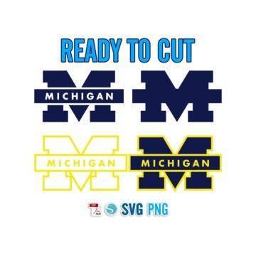 Michigan Wolverines University NFL ready to cut PDF SVG