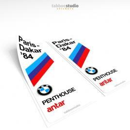 BMW Paris Dakar 1984 Stickers
