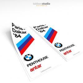 BMW Paris Dakar 1984 Stickers