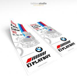 BMW Paris Dakar 1985 Stickers
