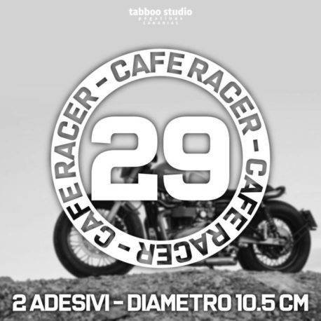 Cafe racer stickers numbers