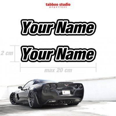 Adesivi auto con nome