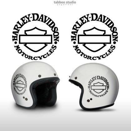 Adesivi Harley Davidson Bar and Shiled