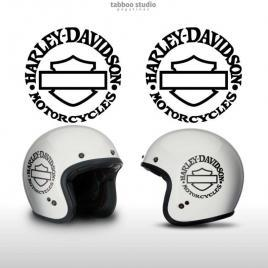 Adesivi Harley Davidson Bar and Shiled