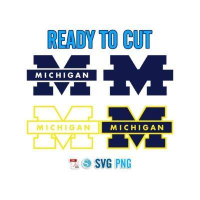 Michigan Wolverines football go blue SVG