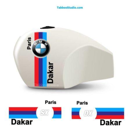 Adesivi serbatoio moto BMW R80 GS Paris Dakar