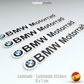 4 adesivi logo BMW Motorrad
