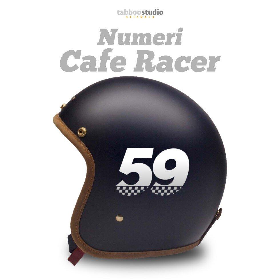 Numeri adesivi moto Cafe Racer