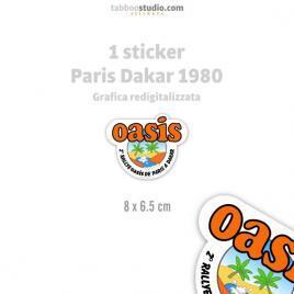 Adesivo Paris Dakar 1980