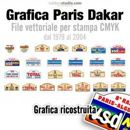 Grafica vettoriale Paris Dakar 1979 2004