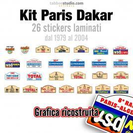 Kit adesivi Paris Dakar 1979 2004